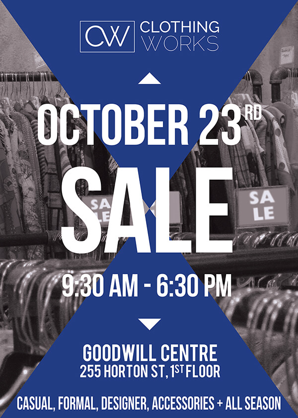 ClothingWorks Sale October 2015 Poster
