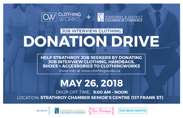 Strathroy Chamber Donation Drive