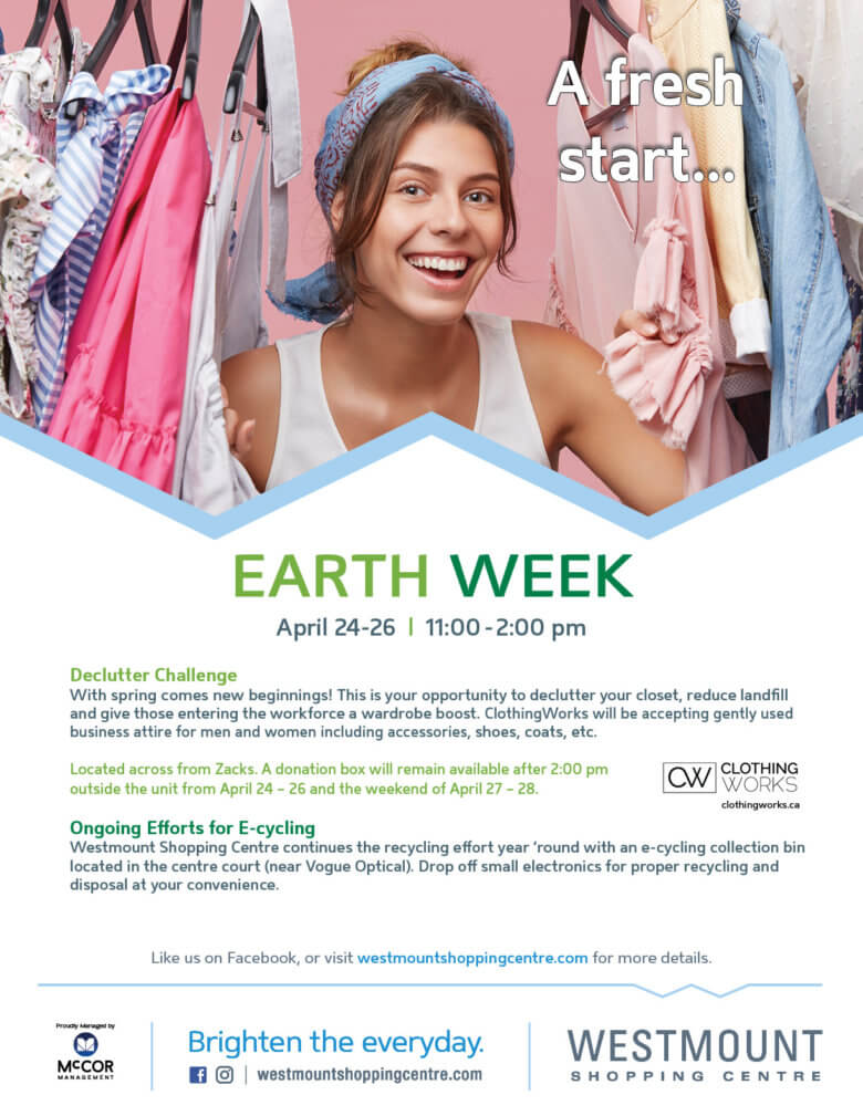ClothingWorks Donation Drive at Westmount Mall